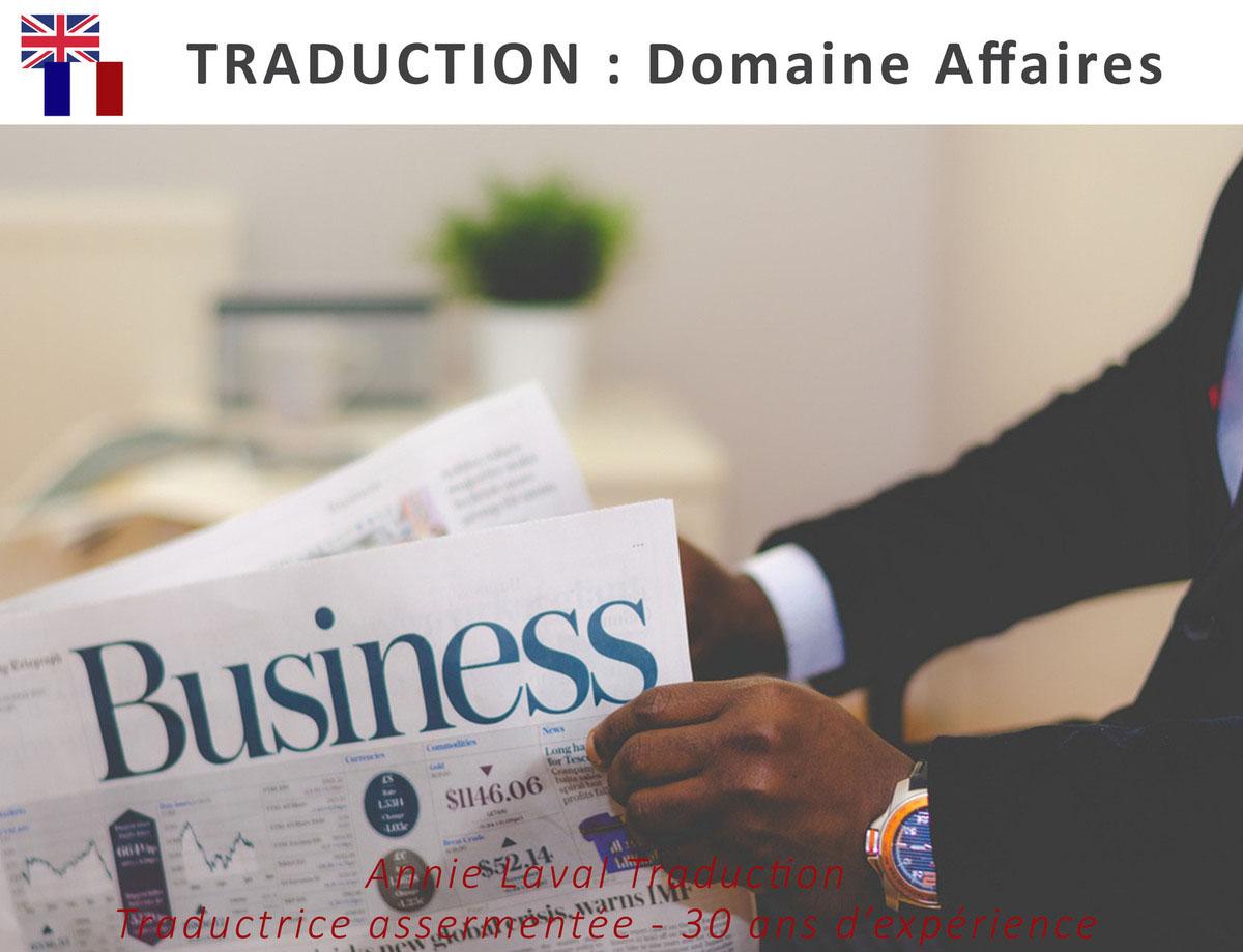 Traduction dans le domaine des affaires